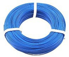 Stevens-Motors 22 Gauge Single Strand Copper Plastic Coated Wire Blue, 32'/Roll