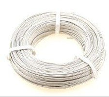 Stevens-Motors 22 Gauge Single Strand Copper Plastic Coated Wire White, 32'/Roll