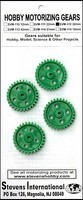 Stevens-Motors Plastic Gears 32mm x 6mm 30-teeth (3mm ID) (4)