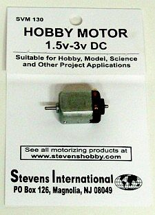 Stevens-Motors 1.5 to 3v DC Small Electric Motor (Flat Sides)