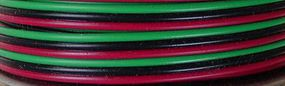 Stevens-Motors 3-Conductor Wire Red-Green-Black 16' (Bag)