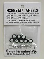 Stevens-Motors 11mm Rubber Tires on Plastic Hubs (8)