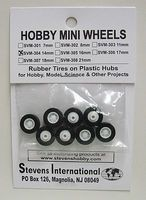Stevens-Motors 14mm Rubber Tires on Plastic Hubs (8)