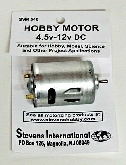 Stevens Motors 4.5 to 12v DC Small Electric Motor (Round Can) (for high endurance)