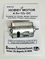 Stevens-Motors 4.5 to 12v DC Small Electric Motor (Round Can) (for high endurance)