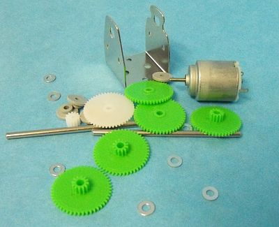 Motor Gear Set Re140 Motor W Mounting Plate Svmmr3
