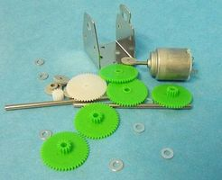 Stevens-Motors Motor Gear Set & RE140 Motor w/Mounting Plate
