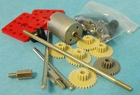 Stevens-Motors Motor Gear Set & RE280 Motor w/Mounting Plate