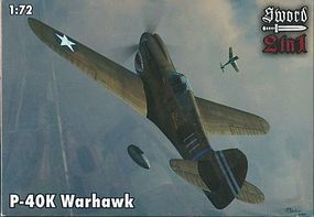 Sword Curtiss P-40K Warhawk Plastic Model Airplane Kit 1/72 Scale #72063