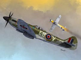 Sword Spitfire MK XIV C/E Bubbletop Fighter Plastic Model Airplane Kit 1/72 Scale #72096