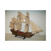 Soclaine 1/50 LeTonnant 3-Masted 1793 French Privateer Merchant Ship