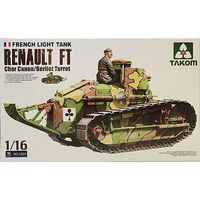 Takom Renault Ft Char Cannon/Berliet Turret Plastic Model Military Vehicle Kit 1/16 Scale #1003