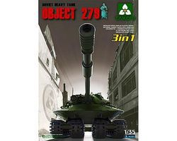 Takom Soviet Heavy Tank Object 279 Plastic Model Military Vehicle Kit 1/35 Scale #2001