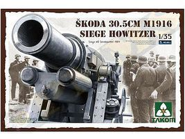 Takom Skoda 30.5cm M1916 Siege Howitzer Plastic Model Military Vehicle Kit 1/35 Scale #2011