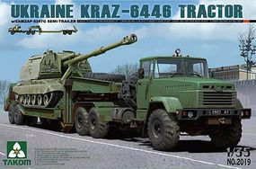Takom Ukraine Kraz-6446 Tractor Plastic Model Military Vehicle Kit 1/35 Scale #2019