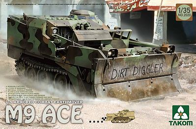 Takom US Armored Combat Earthmover M9 Ace Plastic Model Military Vehicle Kit 1/35 Scale #2020