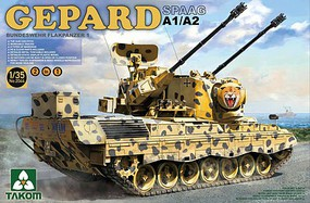 Takom Gepard SPAAG A1/A2 Bundeswehr Flakpanzer Plastic Model Military Vehicle Kit 1/35 #2044