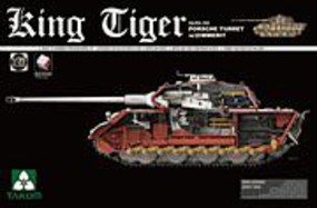 Takom King Tiger Sd.Kfz.182 Porsche Turret Plastic Model Military Vehicle Kit 1/35 Scale #2046