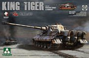 Takom King Tiger Pz.Abt.505 Plastic Model Military Vehicle Kit 1/35 Scale #2047