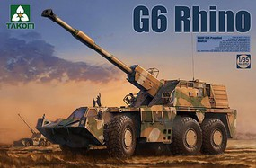 Takom Sandf S-P Howitzer G6 Rhino Plastic Model Military Vehicle Kit 1/35 Scale #2052