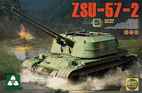 Takom Soviet SPAAG ZSU-57-2 Plastic Model Military Vehicle Kit 1/35 Scale #2058