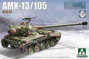 Takom French Light Tank AMX-13/105 Plastic Model Military Vehicle Kit 1/35 Scale #2062