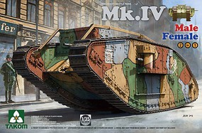 Takom WWI Heavy Battle Tak MK.IV Plastic Model Military Vehicle Kit 1/35 Scale #2076