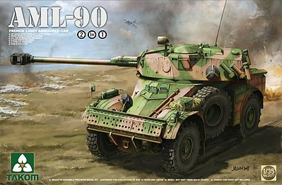 Takom Models 1/35 French AML90 Light Armored Car (2 in 1)