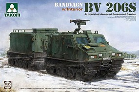 Takom Bandvagn BV206S Articulated APC with Interior Plastic Model Military Vehicle Kit 1/35 #2083