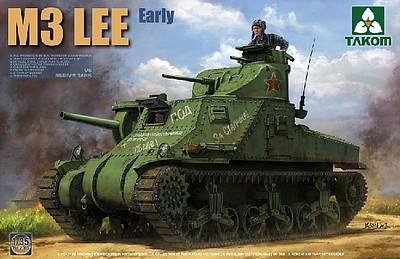 Takom US Medium Tank M3 Lee Early Plastic Model Military Tank Kit 1/35 Scale #2085