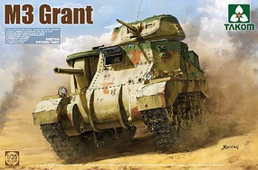 Takom British M3 Grant Medium Tank Plastic Model Military Tank Kit 1/35 Scale #2086