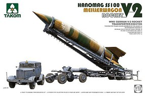 Takom WWII German V2 Rocket Transporter/Erector Plastic Model Military Vehicle Kit 1/72 #5001