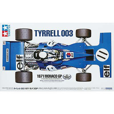 Tamiya Tyrrell 003 1971 Monaco GP -- Plastic Model Car Kit -- 1/12 Scale -- #12054