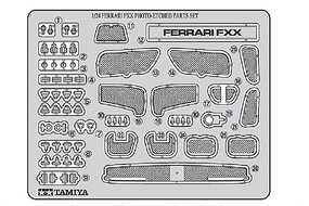Tamiya Photo Etch Parts Set Ferrari FXX Detail Plastic Model Vehicle Decal Kit 1/24 Scale #12616