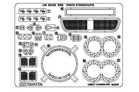 Tamiya Photo Etch Parts Set Lexus SC430 Toms Plastic Model Vehicle Decal Kit 1/24 Scale #12617