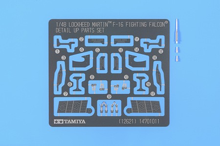 Tamiya Photo Etch Detail Set Lockheed F-16 Plastic Model Aircraft Decal Kit 1/48 Scale #12621