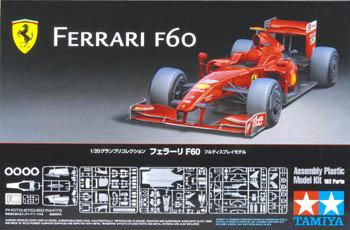 Tamiya Ferrari F60 Formula Racecar Open Wheel F1 GP -- Plastic Model Car Kit -- 1/20 Scale -- #20059