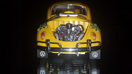 1966 Volkswagen Beetle Vw Bug Plastic Model Car Kit 1 24