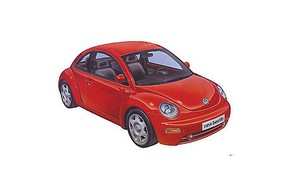 Tamiya Volkswagen Beetle Bug VW Plastic Model Car Kit 1/24 Scale #24200