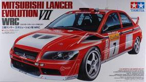 Tamiya Mitsubishi Lancer Evo VII WRC Rallycar Plastic Model Car Kit 1/24 Scale #24257