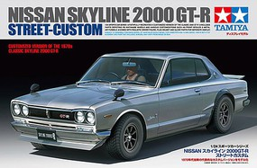 Tamiya Nissan Skyline 2000 GT-R Street Custom Plastic Model Car Kit 1/24 Scale #24335
