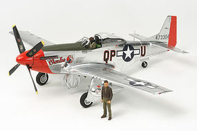 Tamiya North American P-51D Mustang Silver Color Plastic Model Airplane Kit 1/32 Scale #25151