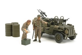 Tamiya British SAS Commando 1944 w/2 Figure Plastic Model Military Vehicle Kit 1/35 Scale #25152