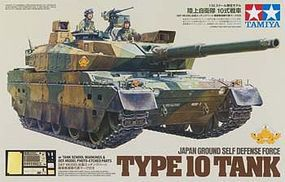 Tamiya JGSDF Type 10 Battle Tank w/PE Part Plastic Model Military Vehicle Kit 1/35 Scale #25173