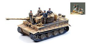 Tamiya German Tiger I Late Version with Ace Commander Plastic Model Military Vehicle 1/35 #25401