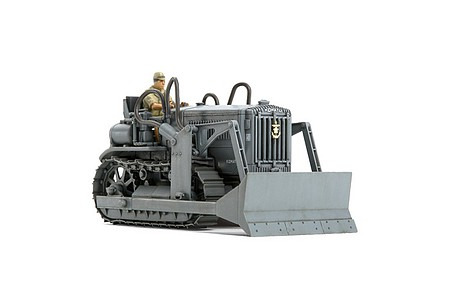Tamiya Komatsu G40 Bulldozer Built Up -- Plastic Model Tractor Kit -- 1/48 Scale -- #26550