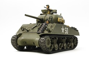 Tamiya US Medium Tank M4A3 Sherman w/ Motor Plastic Model Military Tank Kit 1/35 Scale #30056