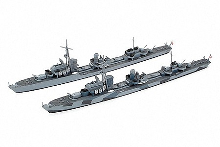 Tamiya German Z Class Z37-39 Destroyer Boats -- Plastic Model Military Ship Kit -- 1/700 Scale -- #31908