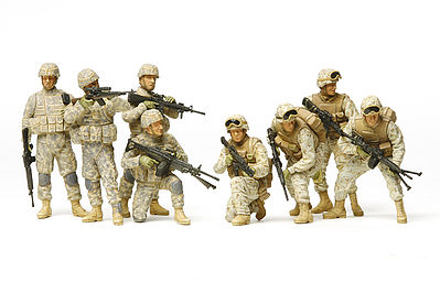 Tamiya US Modern Infantry Iraq War Soldiers -- Plastic Model Military Figure Kit -- 1/35 Scale -- #32406