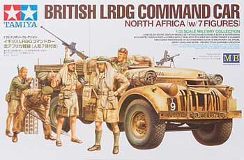 Tamiya British LRDG Command Car w/7 Figures -- Plastic Model Military Vehicle Kit -- 1/35 Scale -- #32407